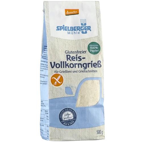 Σιμιγδάλι Ρυζιού Ολικής - Χωρίς Γλουτένη (500γρ) Spielberger