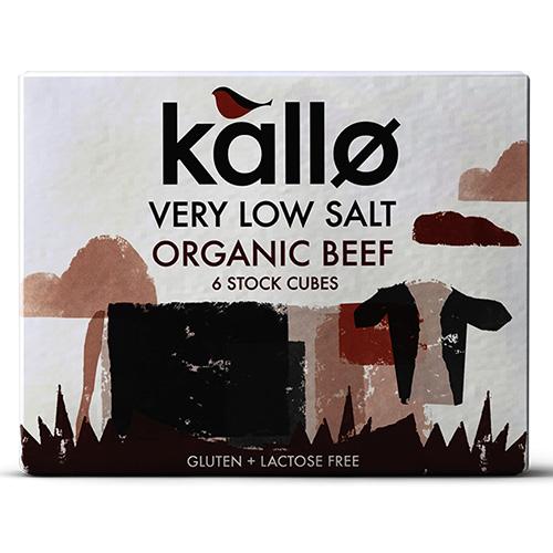 Κύβοι Μαγειρικής Βοδινό - Χαμηλό Αλάτι - Χωρίς Γλουτένη (6τμχ) Kallo