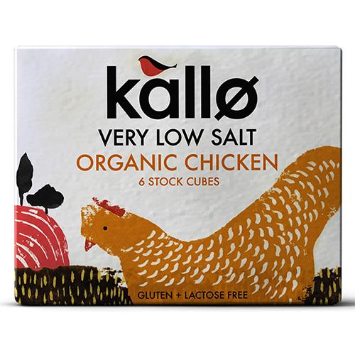Κύβοι Μαγειρικής Κοτόπουλο - Χαμηλό Αλάτι (6τμχ) Kallo