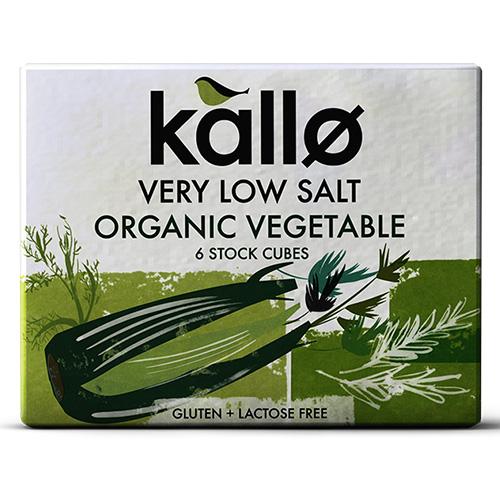 Κύβοι Μαγειρικής Λαχανικών - Χαμηλό Αλάτι - Χωρίς Γλουτένη (6τμχ) Kallo