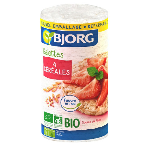 Ρυζογκοφρέτες από 4 Δημητριακά Ολικής Άλεσης (130γρ) Bjorg