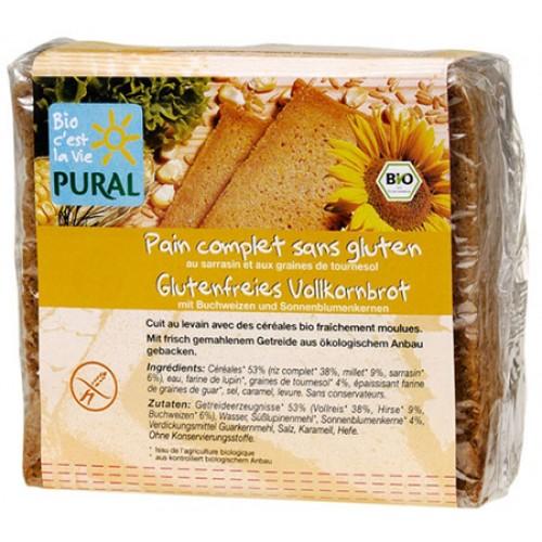 Ψωμί με Φαγόπυρο & Ηλιόσπορους - Χωρίς Γλουτένη (375γρ) Pural