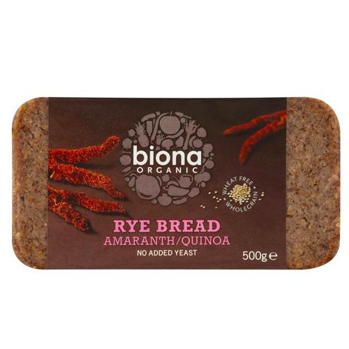 Ψωμί Σίκαλης Ολικής με Αμάρανθο & Κινόα (500γρ) Biona