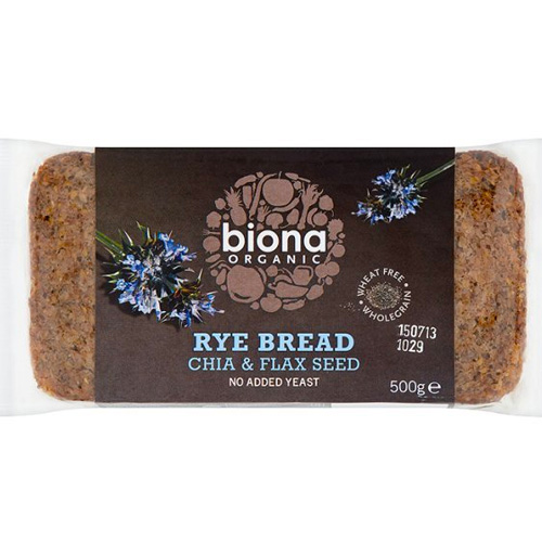 Ψωμί Σίκαλης Ολικής με Chia & Λιναρόσπορο (500γρ) Biona