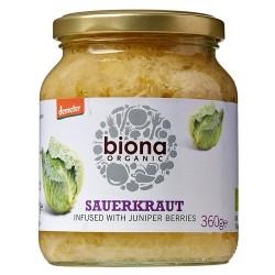 Ξινολάχανο (Sauerkraut) με Καρπούς Άρκευθου (360γρ) Biona