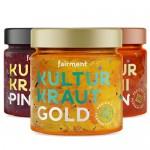 3 x Κίμτσι Λαχανικών: Gold, Pink & Kινέζικο Λάχανο - Ωμά & Απαστερίωτα (3x330γρ) Fairment