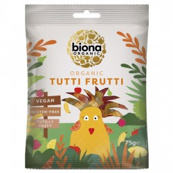 Vegan Ζελεδάκια Φρούτων 'Tutti Frutti' - Χωρίς Γλουτένη (75γρ) Biona