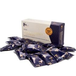 Παστίλιες με Μέλι Μανούκα MGO 500+ 'Φραγκοστάφυλο & Σπόροι Σταφυλιού' (16τμχ) Nui Honey
