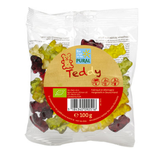 Ζελεδάκια Φρούτων 'Teddy' (100γρ) Pural