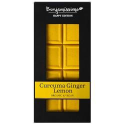 Vegan Σοκολάτα με Κουρκουμά, Τζίντζερ & Λεμόνι - Χωρίς Γλουτένη (60γρ) Benjamissimo