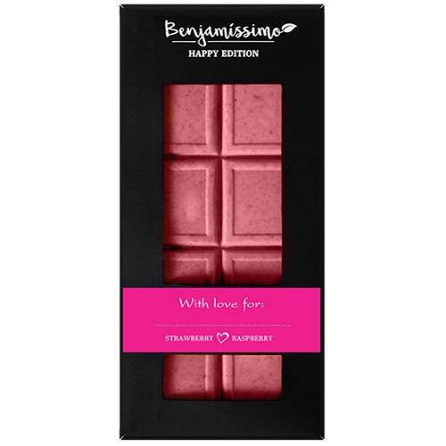 Vegan Σοκολάτα με Φράουλα & Ράσμπερι - Χωρίς Γλουτένη (60γρ) Benjamissimo
