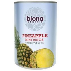 Μίνι Ροδέλες Ανανά σε Χυμό Ανανά (Χωρίς Προσθήκη Ζάχαρης) (400γρ) Biona