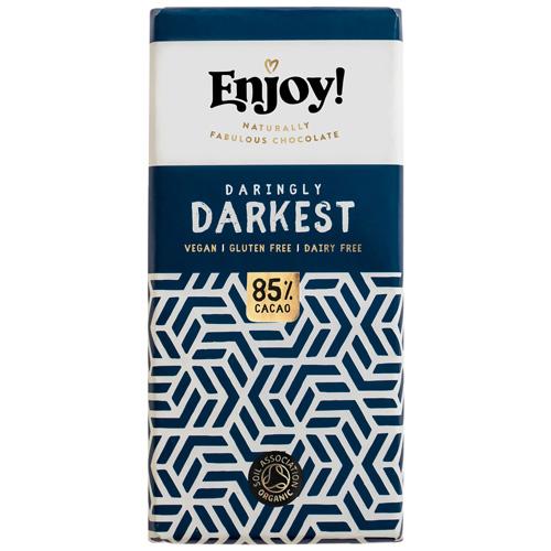 Vegan Σοκολάτα με 85% Ωμό Κακάο (70γρ) Enjoy!