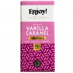 Vegan Σοκολάτα με Γέμιση Βανίλια - Καραμέλα (70γρ) Enjoy!