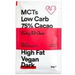 Keto Μαύρη Σοκολάτα 75% με MCTs - Χωρίς Γλουτένη/Ζάχαρη (50γρ) Funky Fat Choc