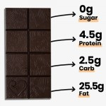 Keto Μαύρη Σοκολάτα με MCTs  & Φουντούκια - Χωρίς Γλουτένη/Ζάχαρη (50γρ) Funky Fat Choc