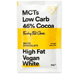 Keto Λευκή Σοκολάτα με MCTs & Σπόρους Chia - Χωρίς Γλουτένη/Ζαχαρη (50γρ) Funky Fat Choc