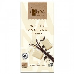 Vegan Λευκή Σοκολάτα με Βανίλια Bourbon (80γρ) iChoc Vivani
