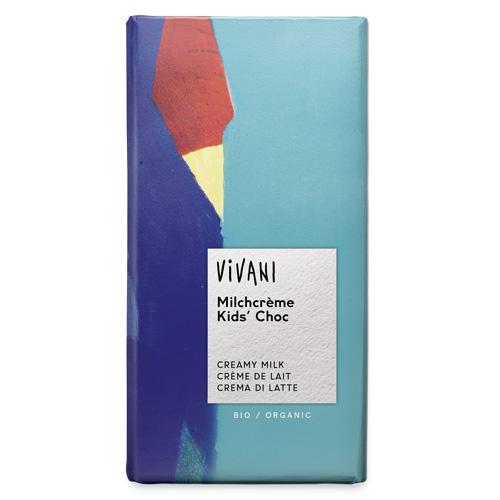 Σοκολάτα Γάλακτος με Γέμιση Γάλακτος για Παιδιά (100γρ) Vivani
