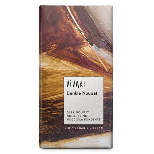 Μαύρη Σοκολάτα με γέμιση Νουγκατίνα (100γρ) Vivani