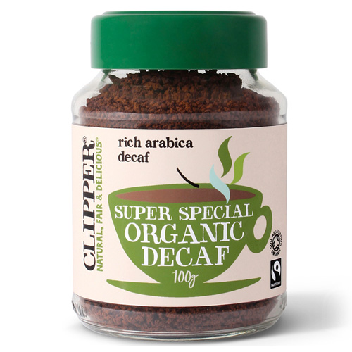 Fairtrade Στιγμιαίος Καφές Arabica - Χωρίς Καφεΐνη (100γρ) Clipper