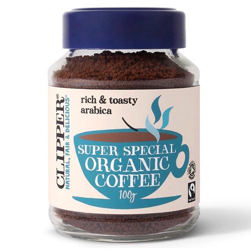 Fairtrade Στιγμιαίος Καφές Arabica Απαλός 'Super Special' (100γρ) Clipper