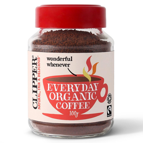 Fairtrade Στιγμιαίος Καφές Arabica Πλούσιος 'Everyday' (100γρ) Clipper