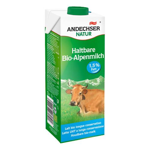 Γάλα Αγελαδινό 1.5% λιπαρά (1λτ) Andechser