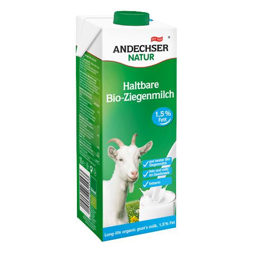 Γάλα Κατσικίσιο 1.5% λιπαρά (1λτ) Andechser