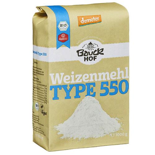 Αλεύρι Σιταριού Λευκό Τύπου T550 (1kg) Bauckhof
