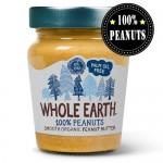 Φυστικοβούτυρο 'Smooth' Χωρίς Αλάτι - Χωρίς Γλουτένη (227γρ) Whole Earth