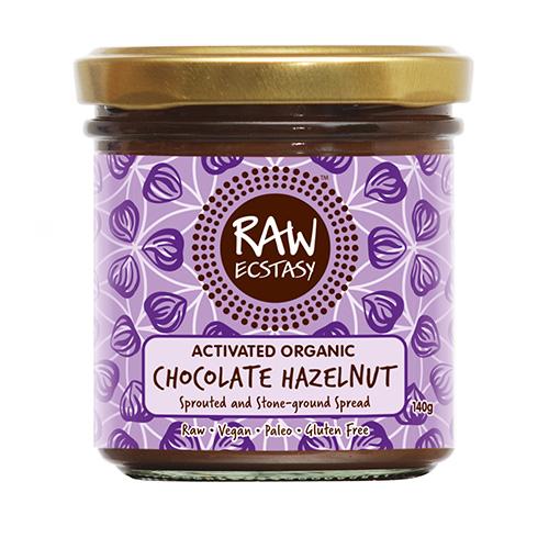 Vegan Ωμή Πάστα Σοκολάτας με Ενεργοποιημένα Φυτρωμένα Φουντούκια (140γρ) Raw Ecstasy