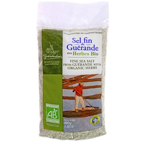 Θαλασσινό Αλάτι με Βότανα (400γρ) Le Guérandais