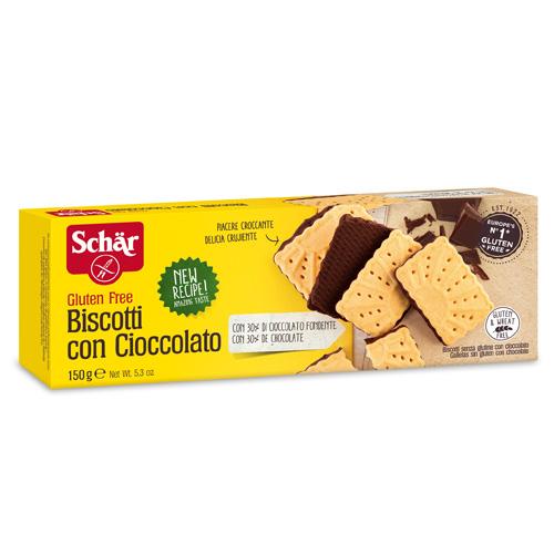 Μπισκότα Πτι Μπερ με Μαύρη Σοκολάτα Χωρίς Γλουτένη (150γρ) Dr. Schar