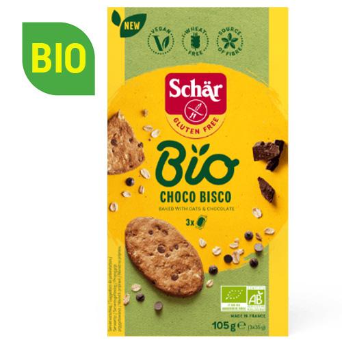 Bio Μπισκότα Βρώμης με Μαύρη Σοκολάτα 'Choco Bisco' Χωρίς Γλουτένη (105γρ) Dr. Schar