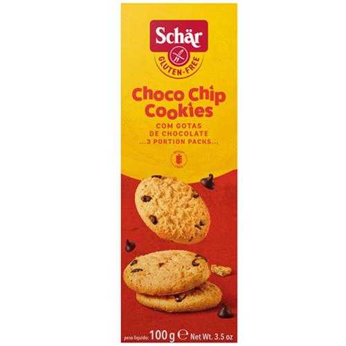 Μπισκότα με Κομμάτια Σοκολάτας 'Choco Chip' Χωρίς Γλουτένη (100γρ) Dr. Schar