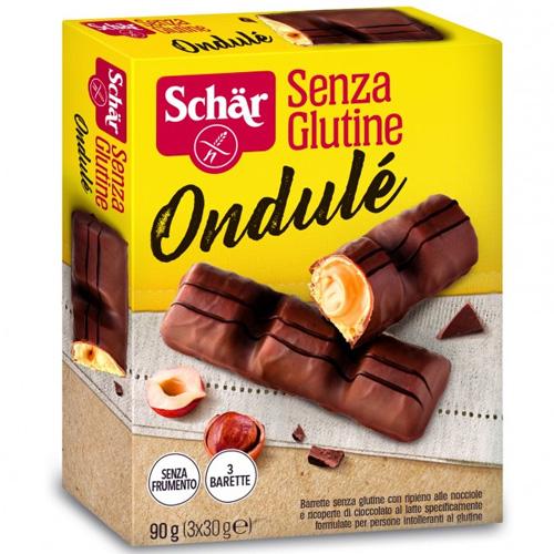 Μπάρα με Γέμιση Κρέμας Φουντουκιού κ' Σοκολάτα 'Ondulé' Χωρίς Γλουτένη (90γρ) Dr. Schar