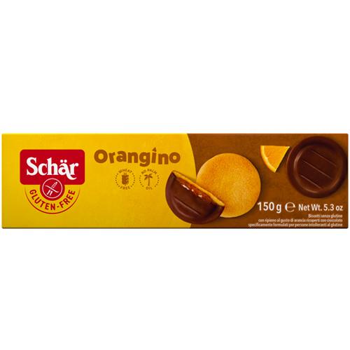 Μπισκότα με γέμιση Πορτοκαλιού κ' Σοκολάτα 'Orangino' Χωρίς Γλουτένη (150γρ) Dr. Schar