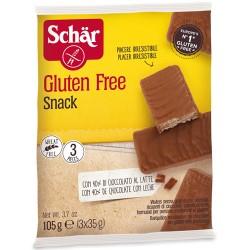 """Γκοφρέτα """"Snack"""" με Σοκολάτα 'Σοκοφρέτα' Χωρίς Γλουτένη (3x35γρ) Dr. Schar"""