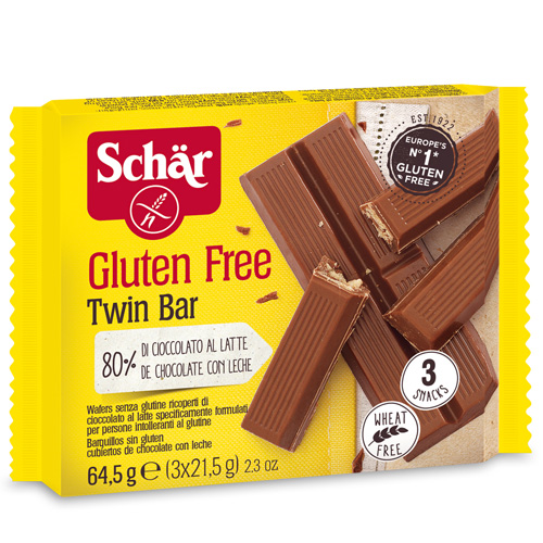 Μπάρες Βάφλας με Σοκολάτα 'Twin Bar' Χωρίς Γλουτένη (3x21γρ) Dr. Schar