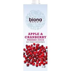 Χυμός Μήλο & Κράνμπερι - Χωρίς Ζάχαρη (1λτ) Biona