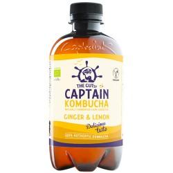 Κομπούχα 'Τζίντζερ - Λεμόνι' Γεύση (400ml) Captain Kombucha