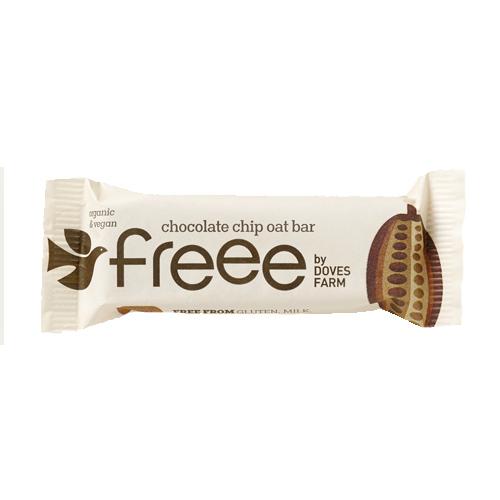 Μπάρα Βρώμης με Τσιπς Σοκολάτας (35γρ) Freee by Doves Farm
