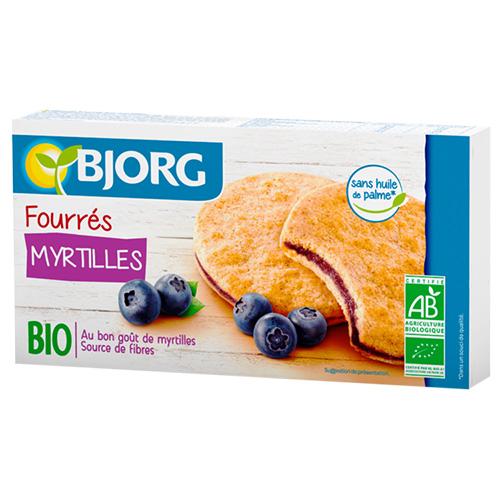 Μπισκότα Ολικής με Γέμιση Μύρτιλλο (175γρ) Bjorg