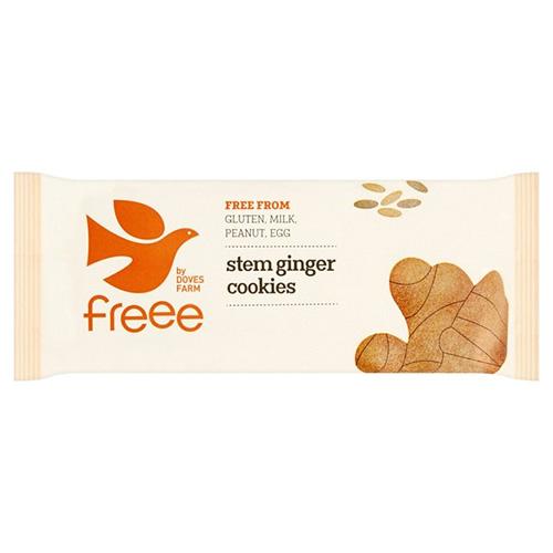 Μπισκότα με Μίσχο Τζίντζερ  - Χωρίς Γλουτένη (150γρ) Freee by Doves Farm