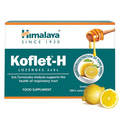 Παστίλιες για το Λαιμό με Αγιουρβεδικά Βότανα 'Koflet-H' - Λεμόνι (12τμχ) Himalaya