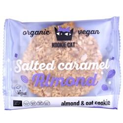 Vegan Μπισκότο Βρώμης με Καραμελωμένα Αμύγδαλα (50γρ) Kookie Cat