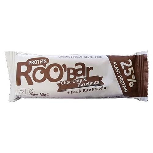 Vegan Μπάρα Πρωτεΐνης με Σοκολάτα κ' Φουντούκια (40γρ) Roobar