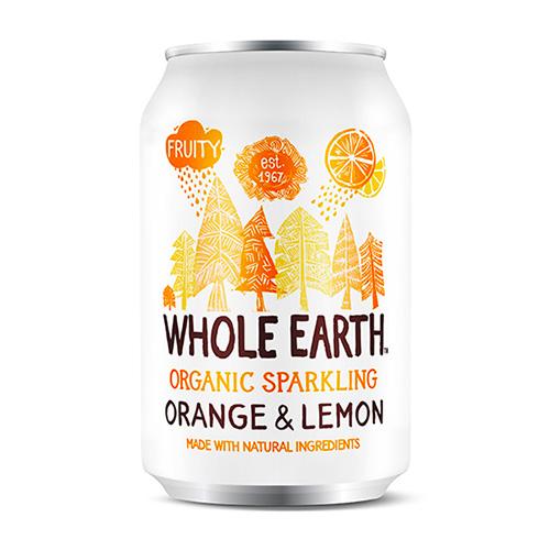 Αναψυκτικό Πορτοκάλι & Λεμόνι - Xωρίς Προσθήκη Ζάχαρης (330ml) Whole Earth