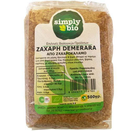 Ζάχαρη Demerara (500γρ) Simply Bio